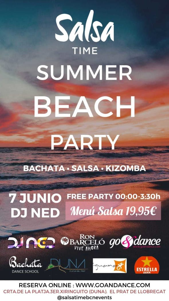 SALSA TIME Summer Beach Party - Friday 7th June 2019