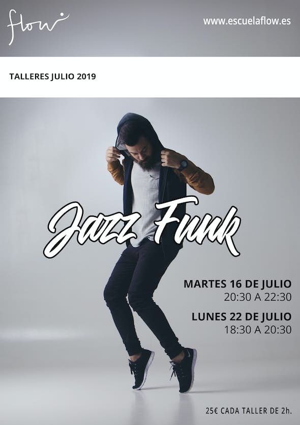 Talleres Jazz Funk en Flow Madrid Julio 2019