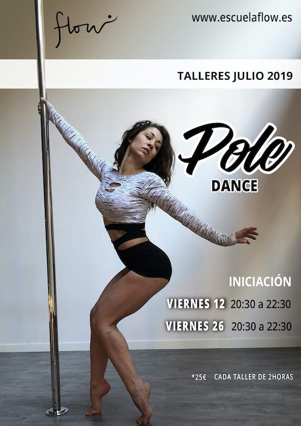 Talleres Pole Dance en Flow Madrid Julio 2019