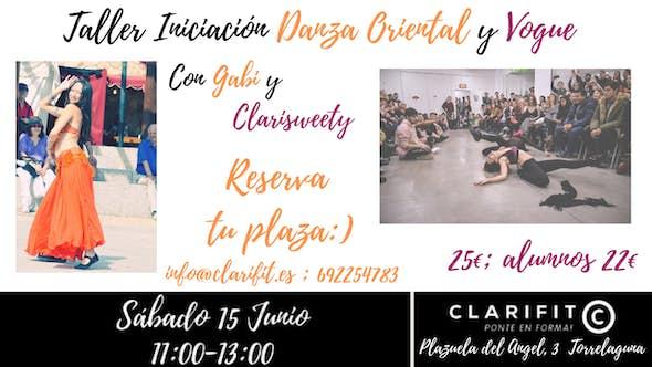Taller Iniciación Danza Oriental y Vogue en Clarifit - 15 Junio 2019