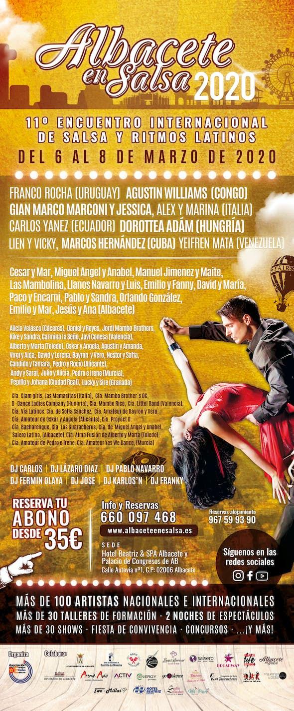 Albacete en Salsa 2020 - Encuentro Internacional de Salsa y Ritmos Latinos (11ª Edición)