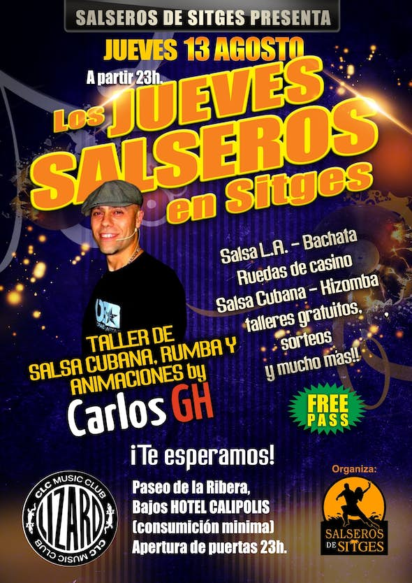 Salsa thursdays at Sitges with Carlos GH