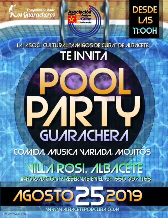 Pool Party Guarachera in Albacete - Sunday 25 August 2019