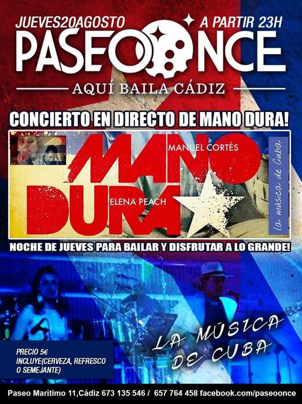 """""""Mano Dura"""" Live show"""