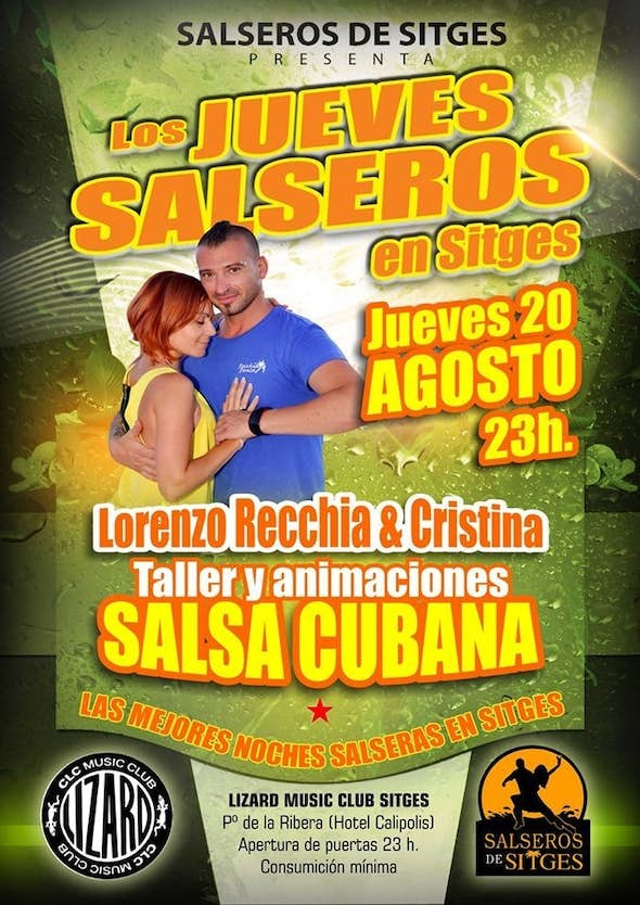 Salsa thursdays at Sitges with Lorenzo Recch