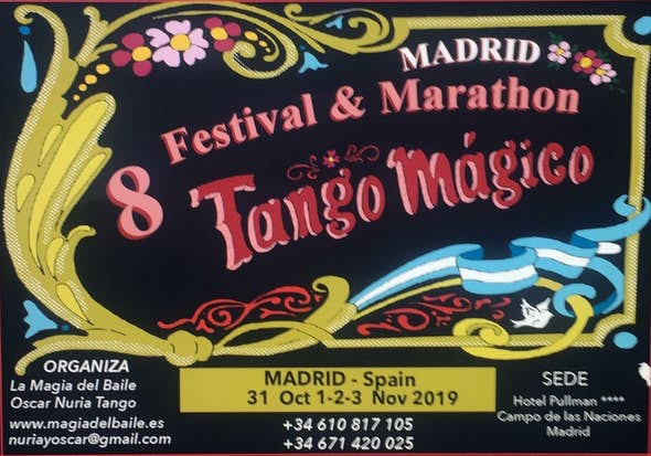 8th Festival & Marathon Tango Mágico Madrid 2019