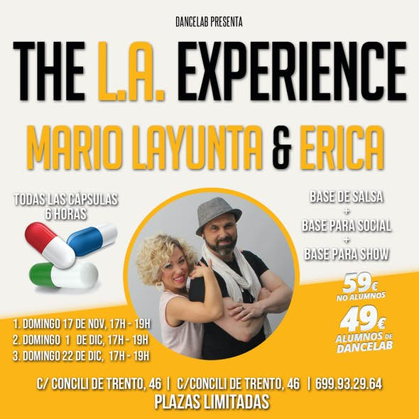 """Salsa Capsule """"The LA Experience"""" at DanceLab - Sunday 1 and 22 December 2019"""
