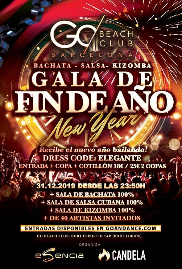 New Year's Eve Party Barcelona 2019-2020 - Bachata, Salsa and Kizomba