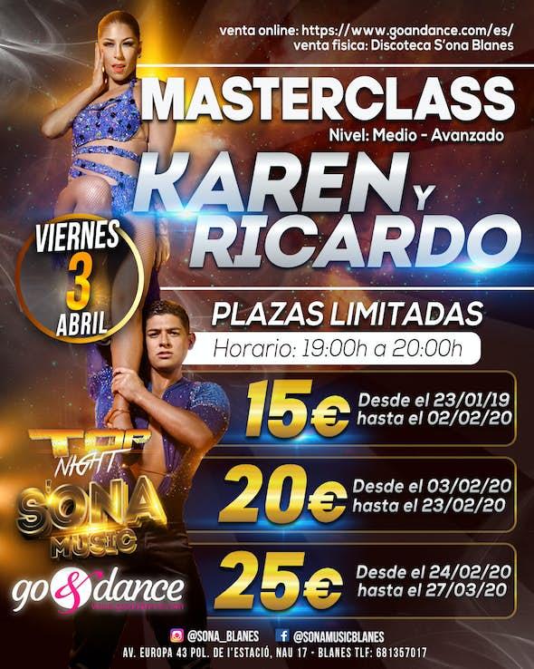 (CANCELED) Karen and Ricardo at S'Ona Blanes - Friday 3 April 2020