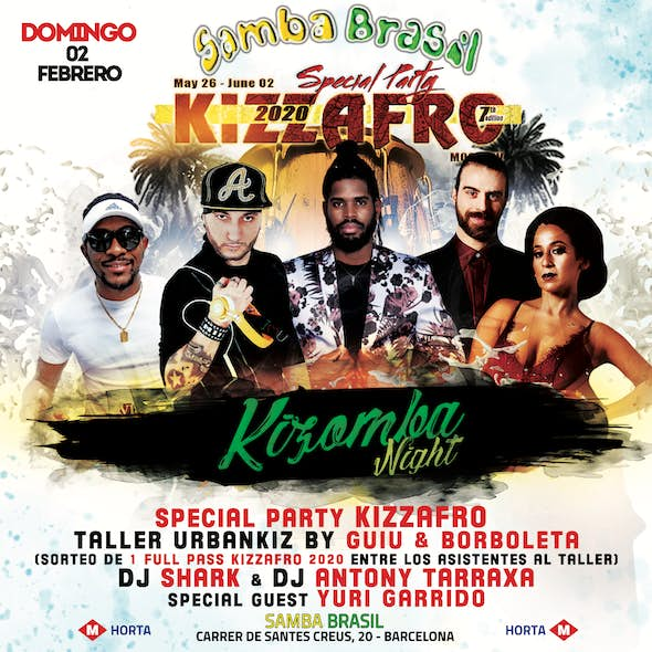 Sunday 02 February - Special Party Kizzafro Barcelone