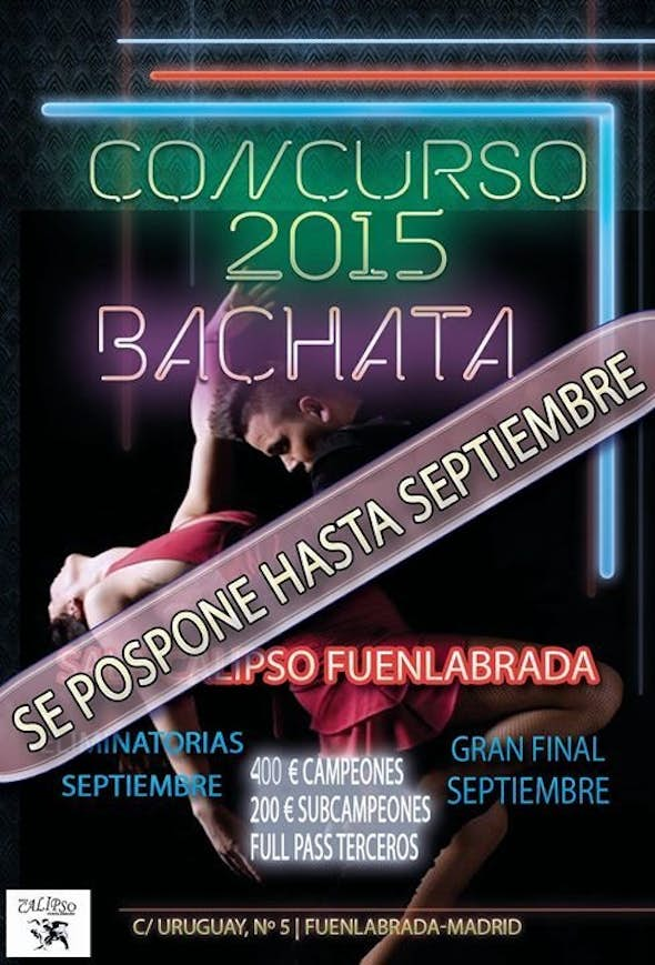 COMPETITION OPEN BACHATA SUMMER CALIPSO - SEPTIEMBRE 2015