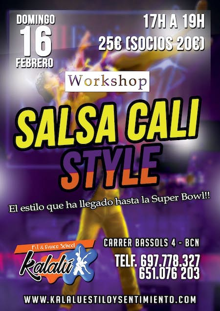 Workshop Salsa Cali Style en Barcelona - Domingo 16 Febrero 2020