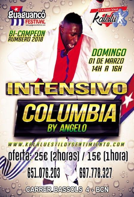 Intensivo de COLUMBIA en Kalalú Barcelona - 1 Marzo 2020