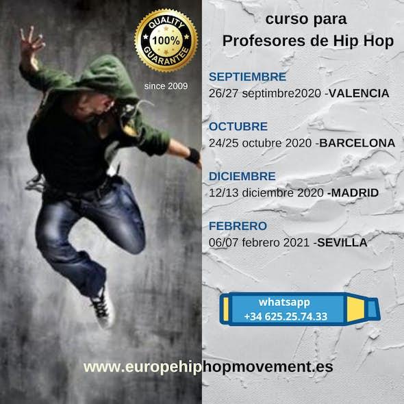 Hip Hop Teacher Training in Valencia