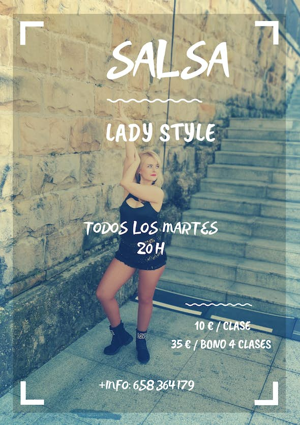 LIVE SALSA LADY STYLE Workshop Every Tuesday in July 2020