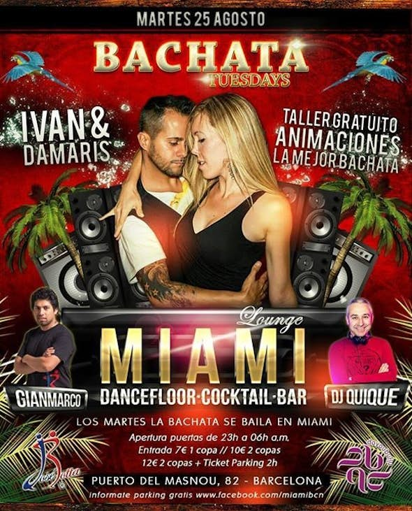MIAMI BACHATA TUESDAYS, 25 AUGUST
