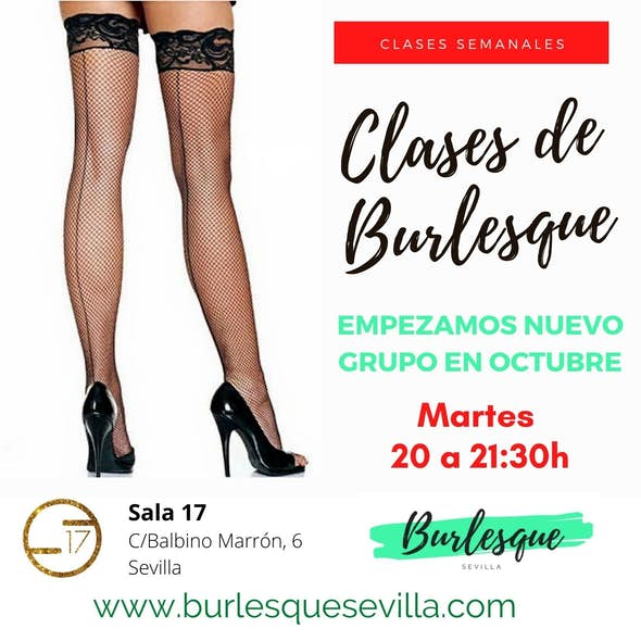 Clases de Burlesque los Martes en Sevilla de Oct.-Dic. 2020