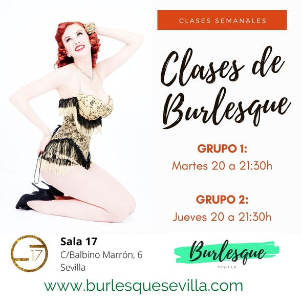 Thursday Burlesque Classes in Seville from Sep.-Dec. 2020