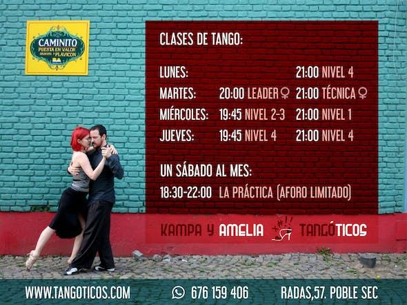Presential Tango Classes in Barcelona - September 2020
