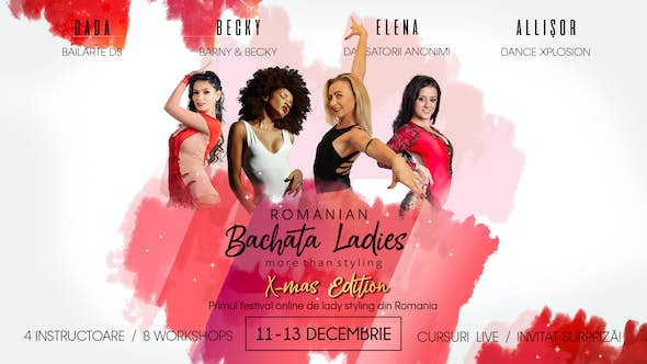 Romanian BACHATA Ladies - Online Fest [ 11-13 dec 2020]
