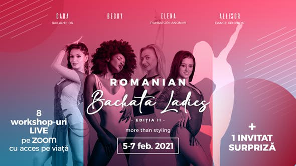 Romanian BACHATA Ladies - Online Fest [ 5 -7 februarie 2021]