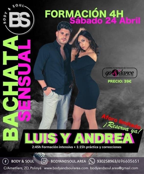 Formación Intensiva Bachata Sensual Luis & Andrea -Sábado 24 Abril 2021