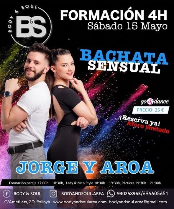 Formación Intensiva de Bachata Sensual con Jorge & Aroa - Sábado 15 de Mayo 2021