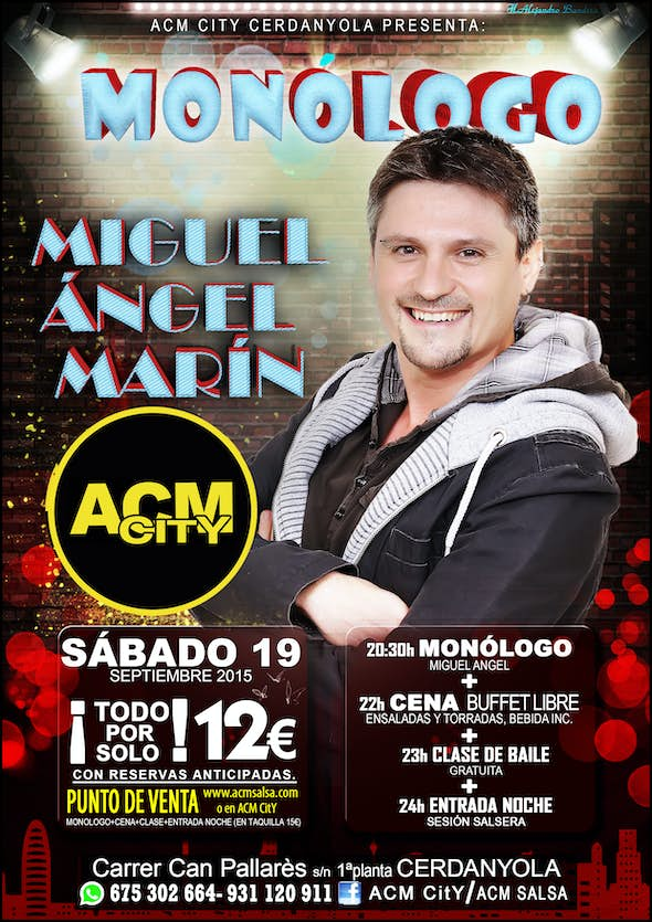 Monologues night with MIGUEL ÁNGEL MARIN