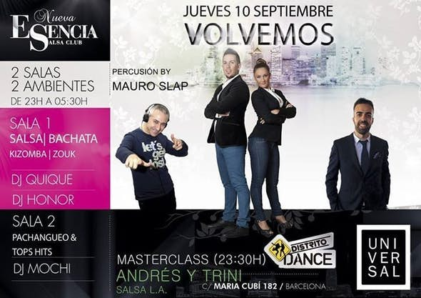 New Season Esencia: workshop of Andres y Trini, ESTRENOS BCN: Cocolos y Ladys Touch