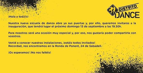 Inaugurtion of Distrito Dance!!!