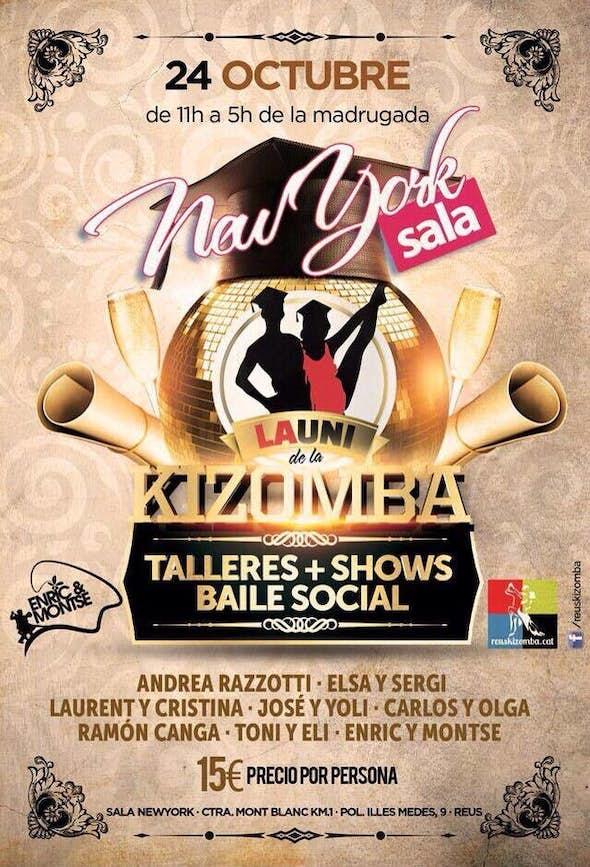 La UNI of Kizomba. Workshops +shows + party in Sala New York