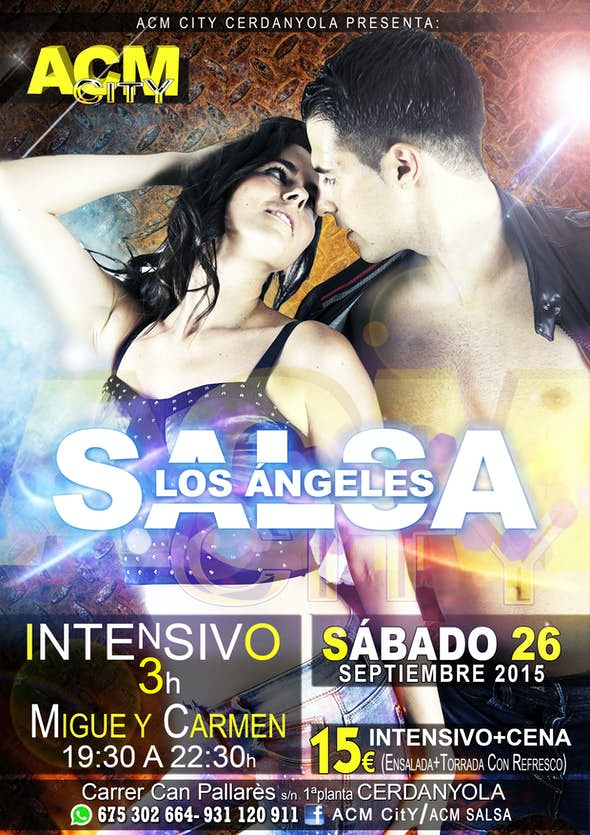 INTENSIVO de SALSA LOS ANGELES con CARMEN y MIGUE