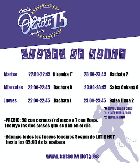 Salsa Classes at Olvido 15