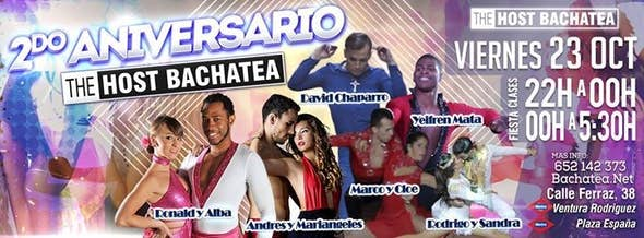 2nd ANIVERSARY THE HOST BACHATEA - with Ronald and Alba and friends