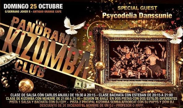 SUNDAY 25!!!! PSYCODELIA DANSSUNIE IN PANORAMA KIZOMBA CLUB!!!