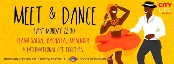 MEET & DANCE: Aprende Salsa, Merengue, Bachata & International Get-Together