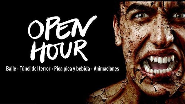 Open Hour Special Halloween  ( Baila + Túnel del terror+ Pica pica)
