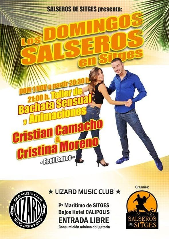 Salsa sundays at Sitges with Cristian Camacho