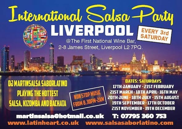 INTERNATIONAL SALSA PARTY LIVERPOOL with Special Guest International Teacher RAFAEL BARO - GERMANY /