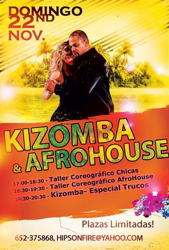 Workshop COREOGRÁFICO de GINGA & Afro-House y ademas Taller Kizomba Trucos - Domingo 22 de Nov.