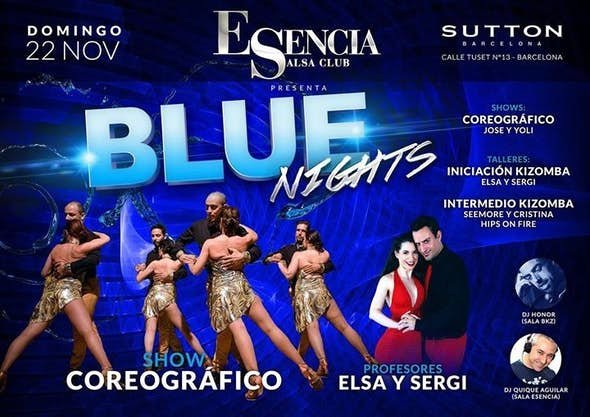Esencia Presenta: Blue Nights Kizomba and Special Salsa Sessions