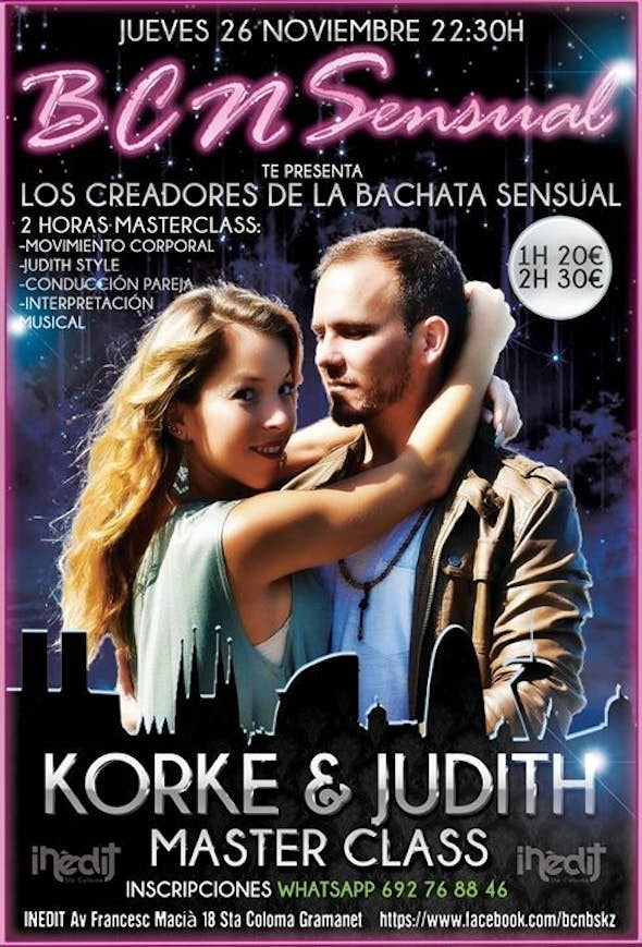 Master Class KORKE & JUDITH 26th of November