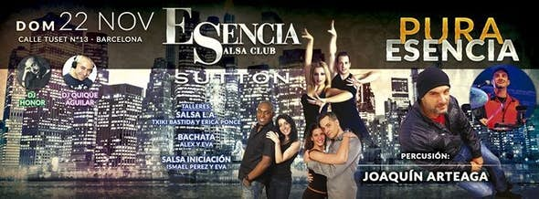 Esencia s.C. presents: ¡¡¡¡PURE ESENCIA!!! Intermediate workshopso: (Salsa & Bachata)