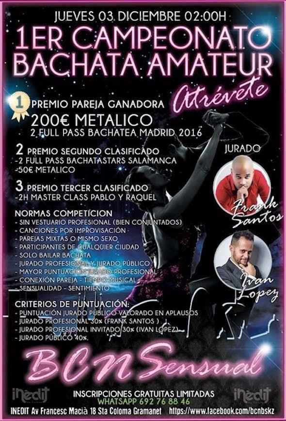 Campeonato Bachata Amateur Jueves 3 de Diciembre