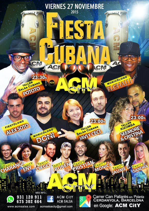 Friday 27th: CUBAN PARTY!!!