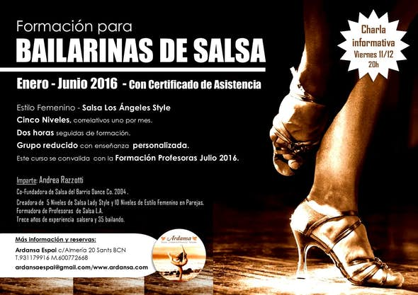 Formación Bailarinas de Salsa - Charla Informativa