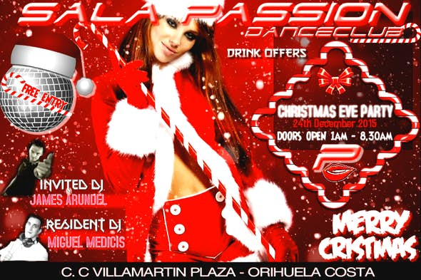 Christmas Eve party at dance club SALA PASSION