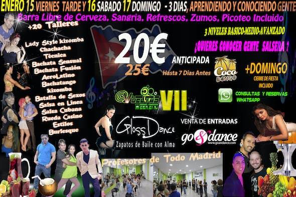 VI WEEKEND VUELTAS , 3 dias + 20 Talleres +Barra Libre de Bebida y Picoteo = 3 Días por 20€