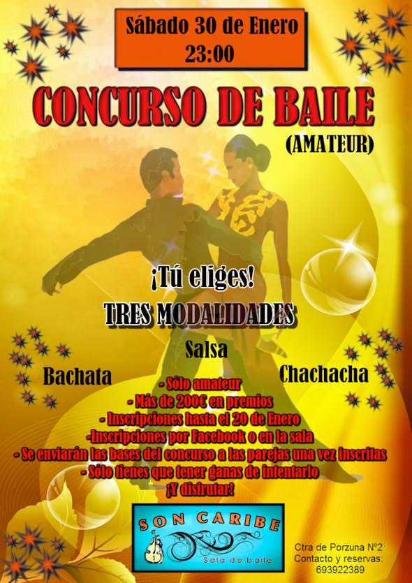 CONCURSO DE BAILE AMATEUR