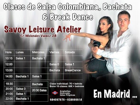 Clases de Salsa Colombiana y Bachata Dominicana.